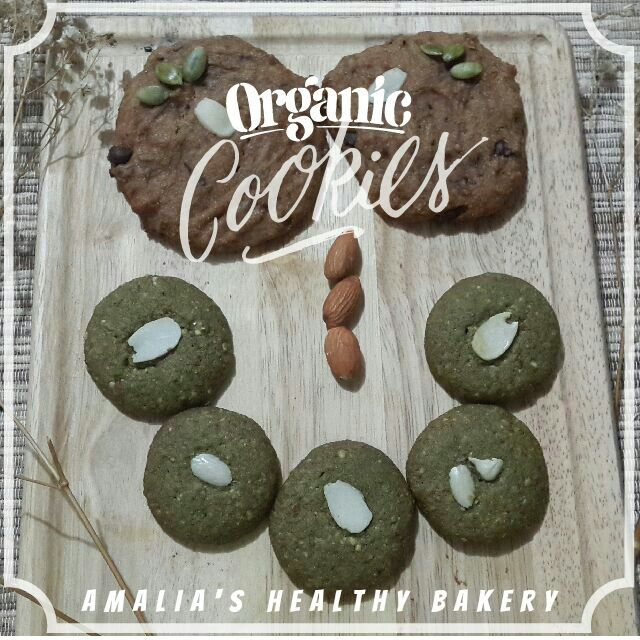 Organic cookies. Made from organic ingredients