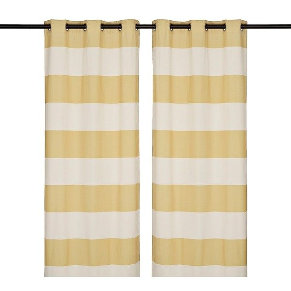 Surfside Yellow Curtain Panel Set 96 In 40 Liked On Polyvore Featuring Home Home Decor Window Treatments Curtains Moder Yellow Curtains Panel Curtains