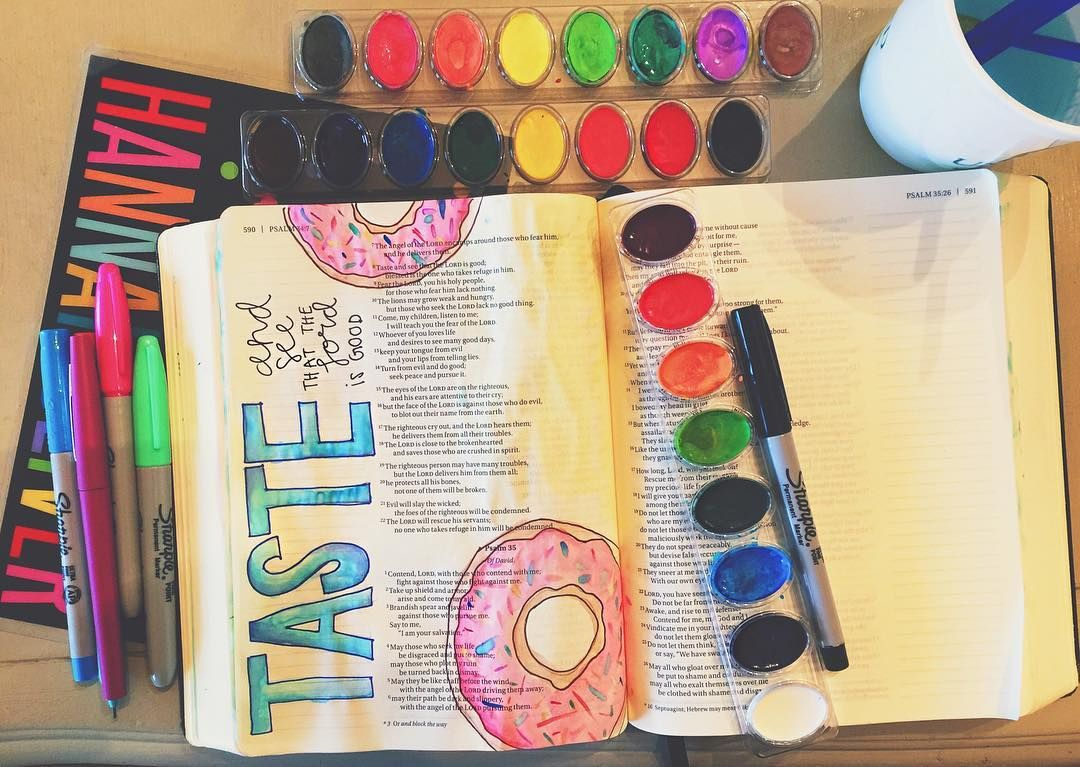 taste and see that the Lord is good psalm 34:8 #illustratedfaith #biblejournalingcommunity http://ift.tt/1KAavV3