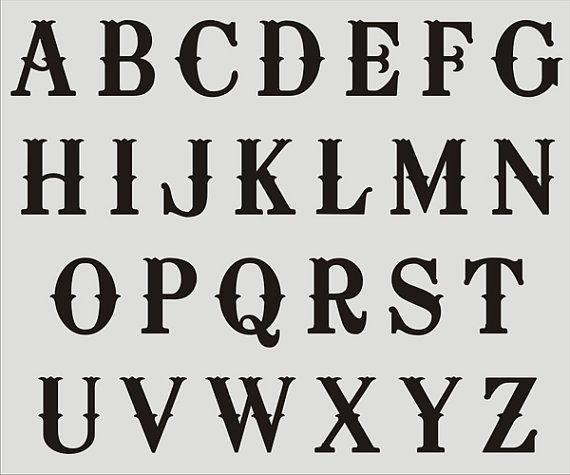 alphabet reusable stencil 024 a z letters 8 sizes available