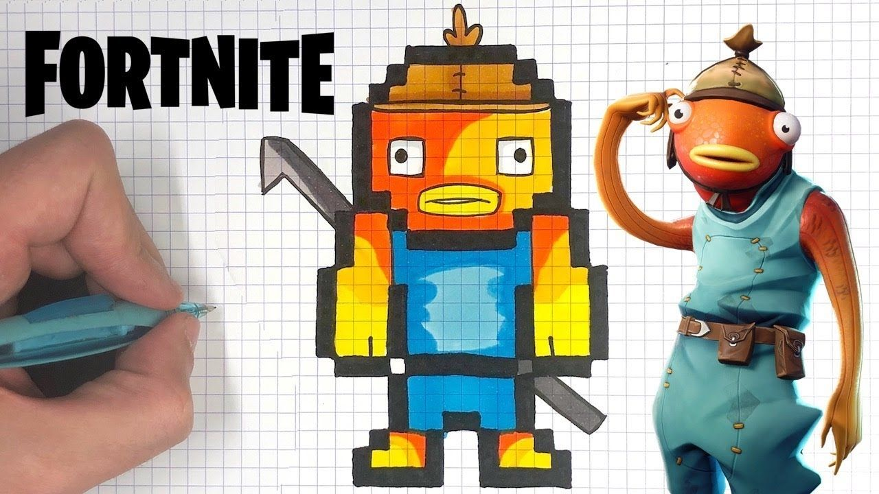Skin Fortnite Pixel Tuto Dessin Poiscaille Pixel Art Fortnite Youtube En 2020 Pixel Art Dessin Pixel Jeux Pixel Art