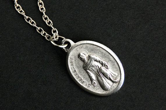 Saint peregrine necklace christian necklace st peregrine medal saint peregrine necklace christian necklace st peregrine medal necklace patron saint necklace mozeypictures Image collections