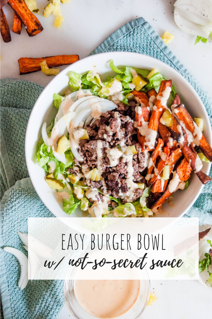Easy Burger Bowl w/ Not-So-Secret Sauce images