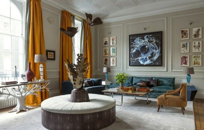 wohnungsdeko dekorationsideen dekostoffe wohnzimmer ideen