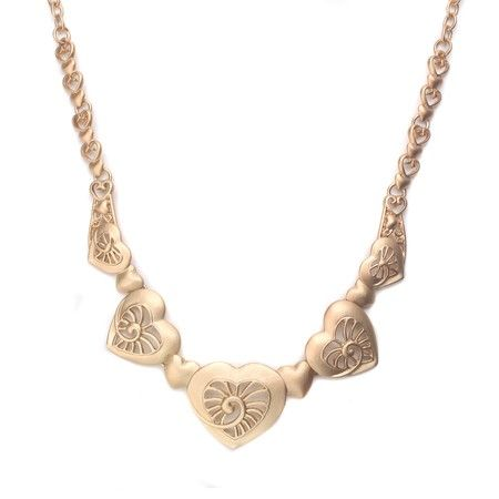 Gold Heart Matte Necklace!  #GoldJewelry #InspiredSilver #Gold #Jewelry #Necklace http://www.inspiredsilver.com/