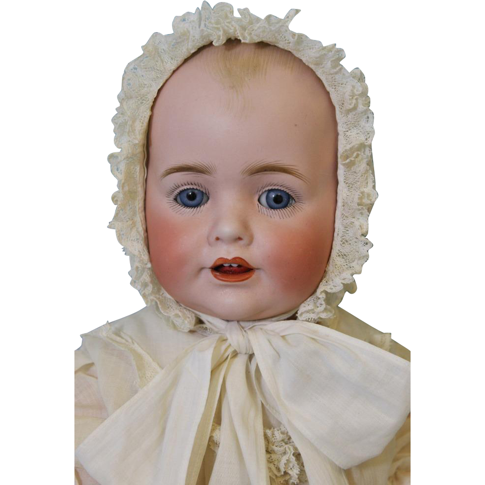 Antique 17inch Baby Jean Character Doll by JDK Kestner German Bisque from turnofthecenturyantiques on Ruby Lane