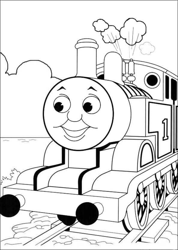 thomas lokomotive 5  ausmalbilder kostenlos in 2020