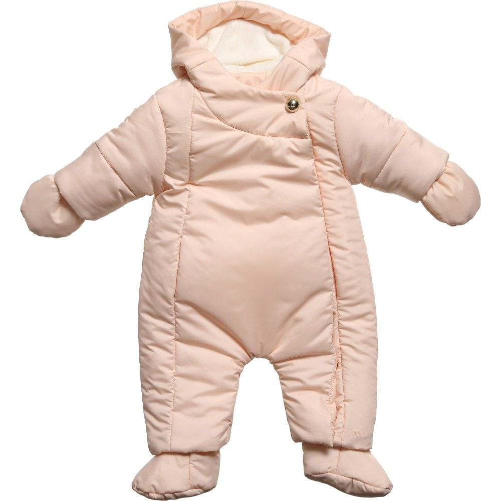 2cbff2c3b Baby Girls Pink Padded Snowsuit