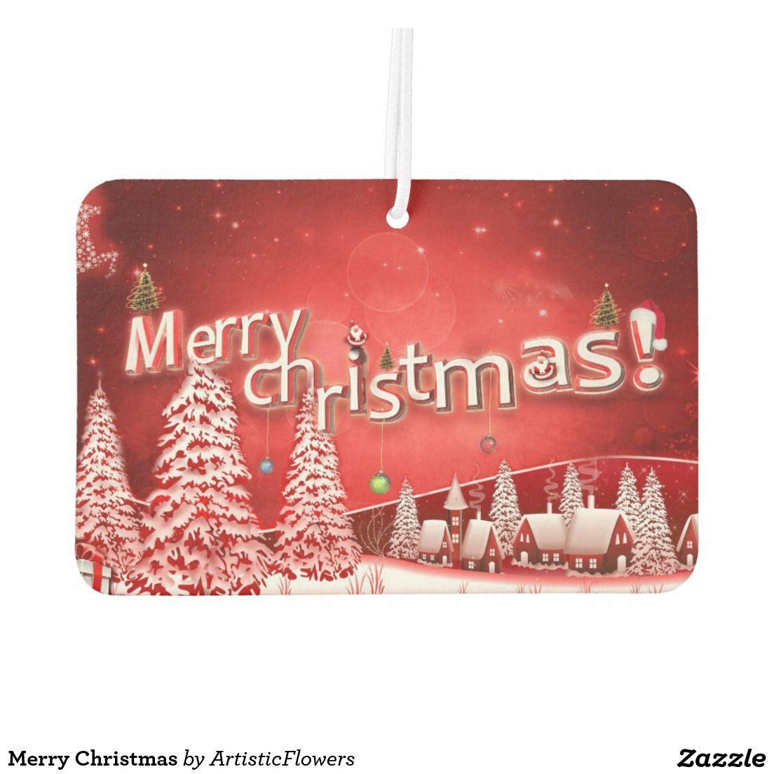 Merry Christmas Car Air Freshener Merry
