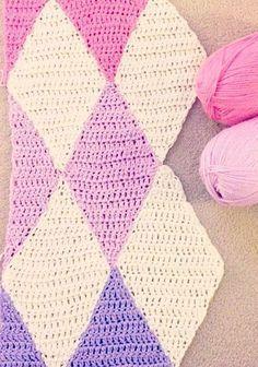 Harlequin crochet blanket pattern | Crochet baby blanket ...