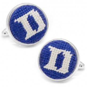b24dbc87d936 Duke University Needlepoint Cufflinks - Grad Gifts for Him   Cufflinks.com