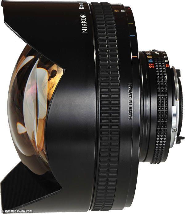 Nikon 13mm NIKKOR, side