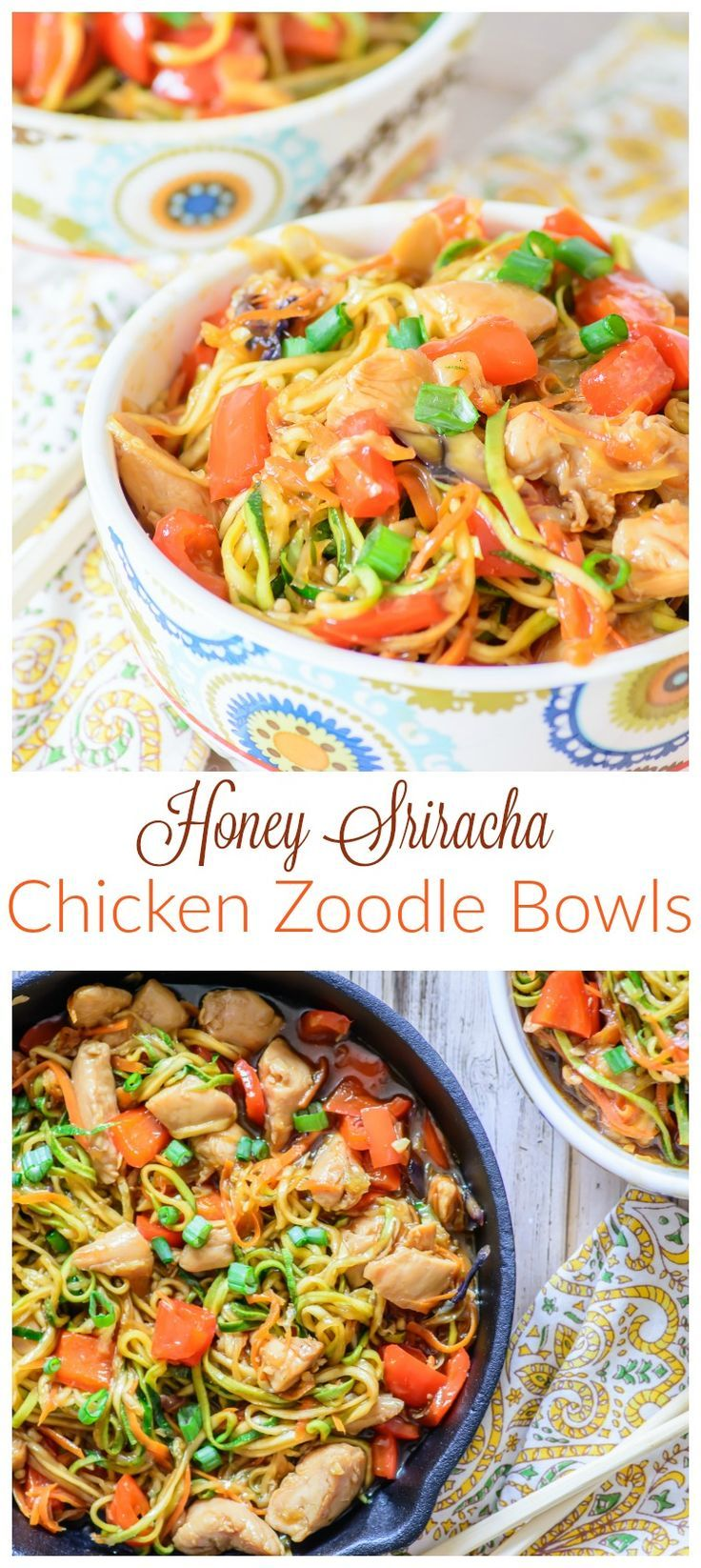 This amazing one skillet zoodle recipe is healthy, low ...
