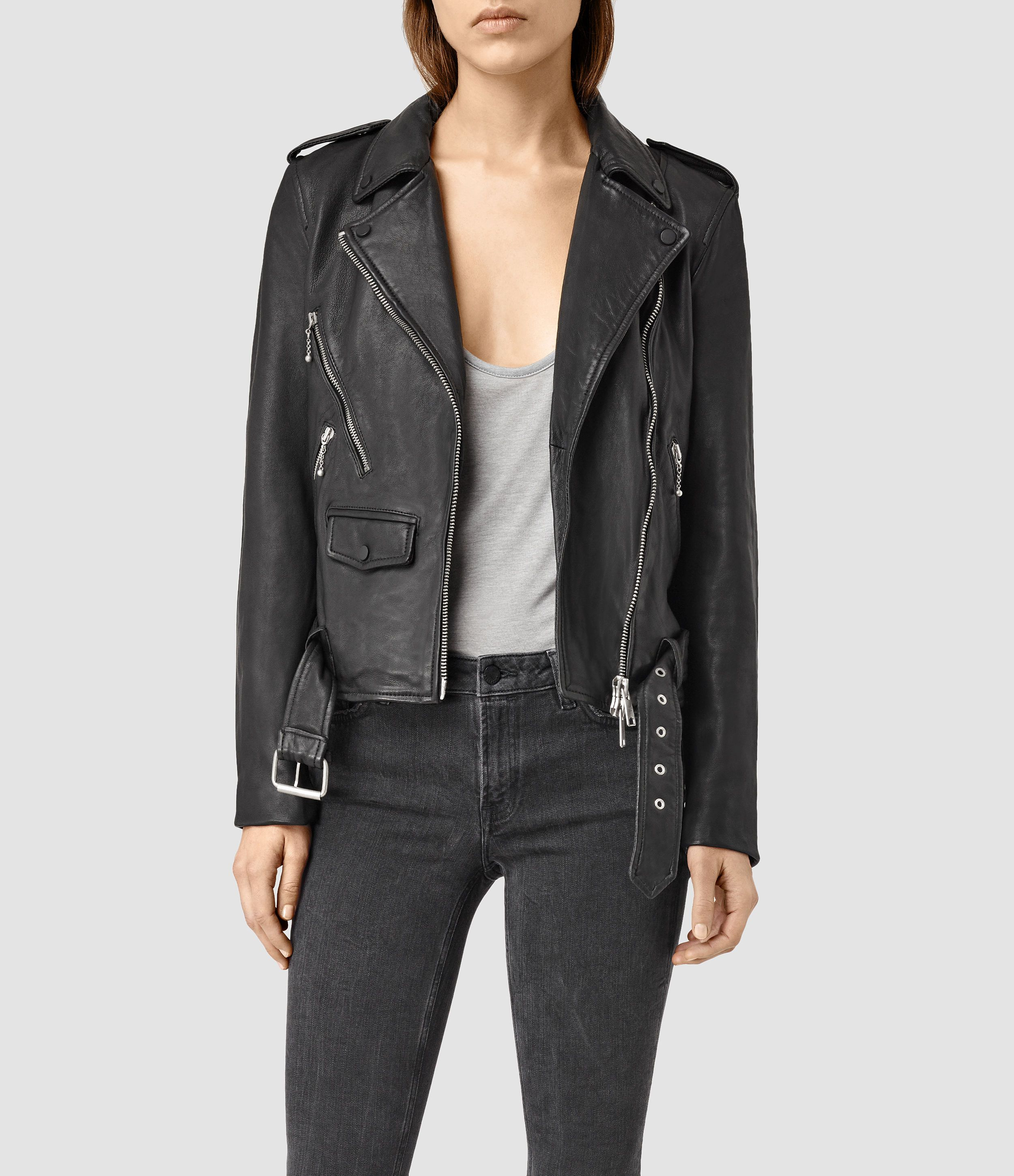 A classicly styled biker jacket, made from cow leather