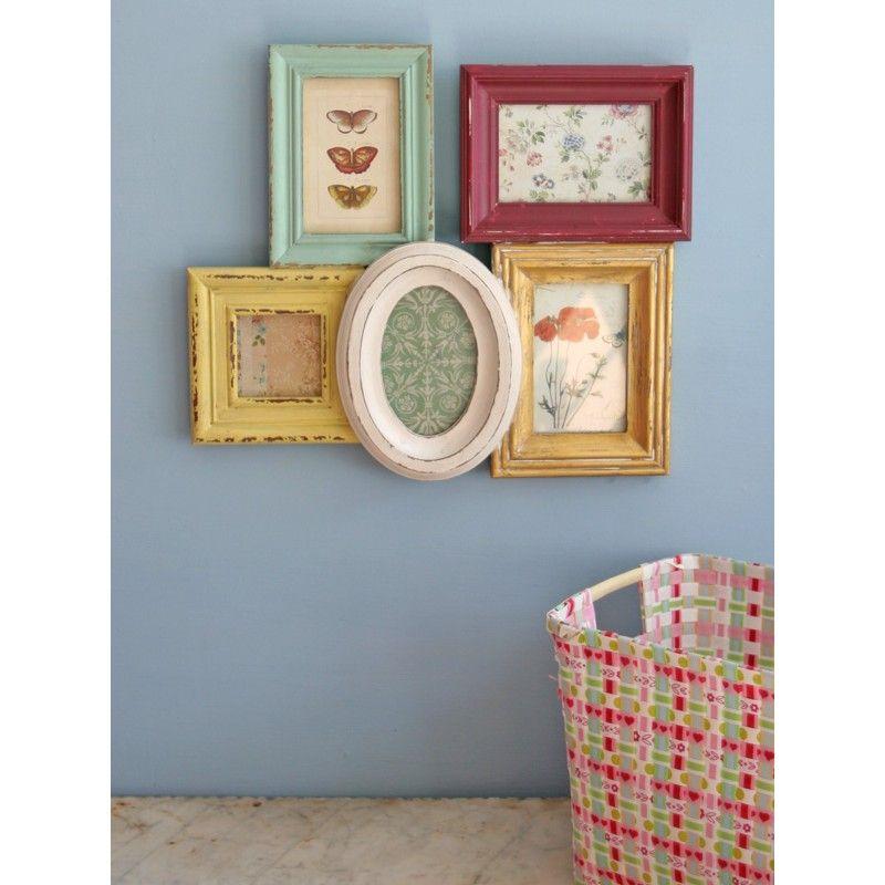Cluster Frame Multi Coloured | My Style | Pinterest | Wooden frames