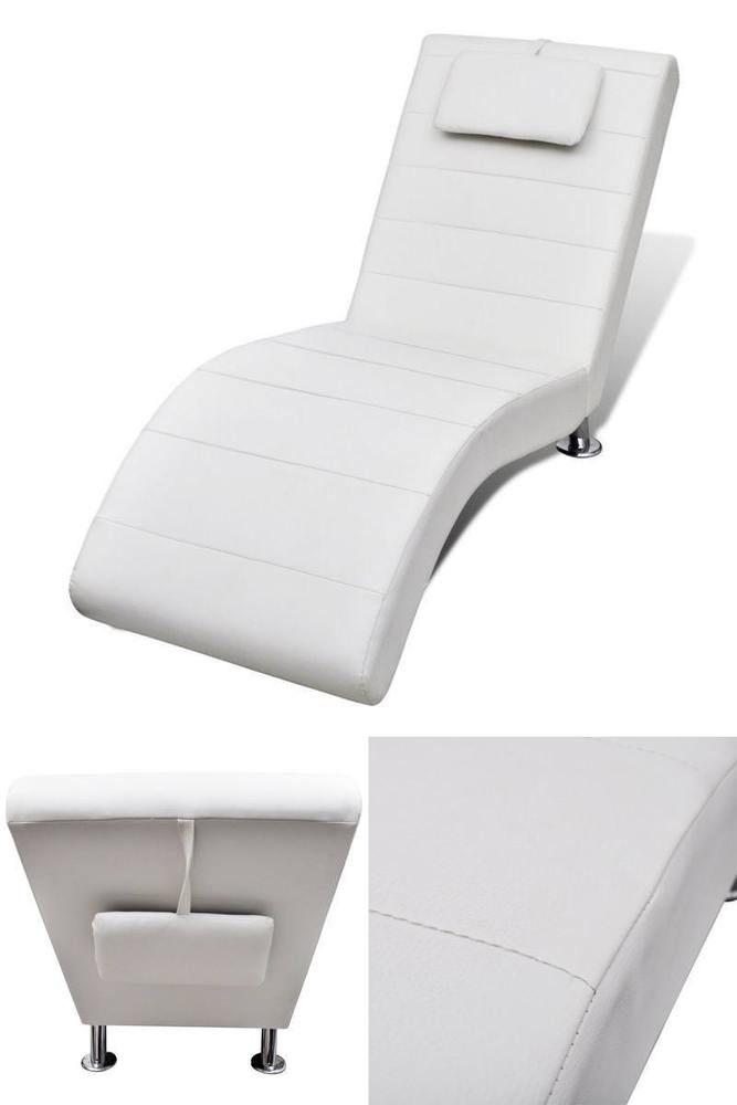 White Modern Lounge Sofa Artificial Leather Home Hotel Spa