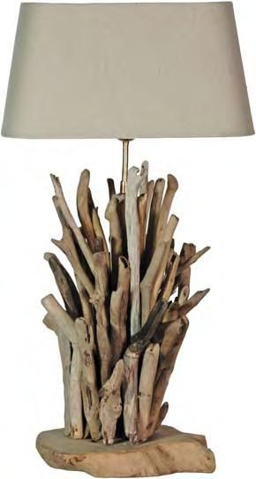 Large Driftwood Lamp Base Only