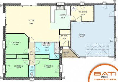 Afficher l 39 image d 39 origine plan de maison pinterest for Plan maison t4 plain pied