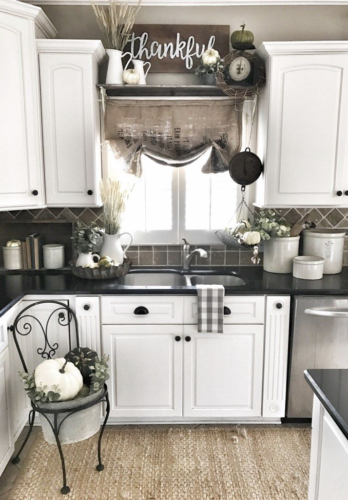 rustic cabinets kitchen bless this nest fall farmhouse kitchen home tour 2041