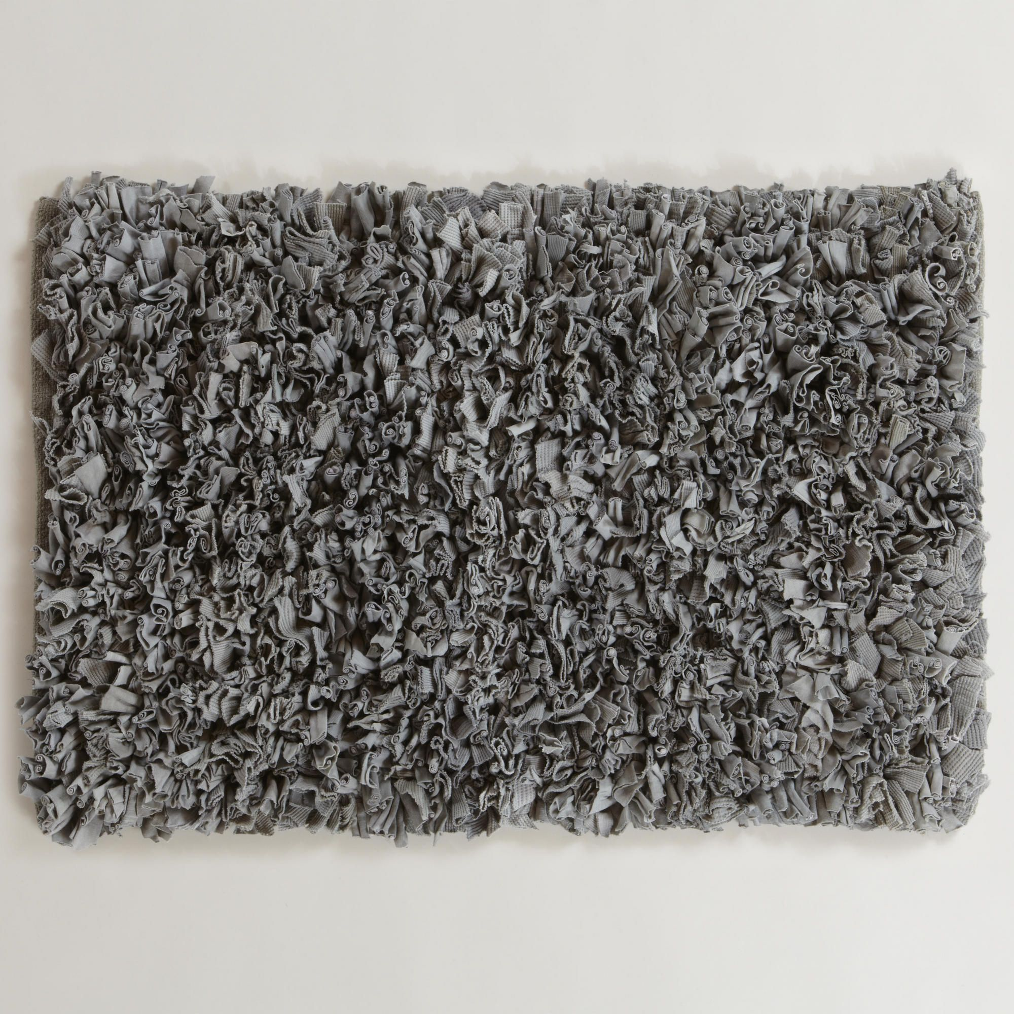 Frost Gray Jersey Shag Bath Mat World Market Shag Bath Mat