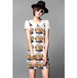 Women Tiger Pattern Slim Dress
