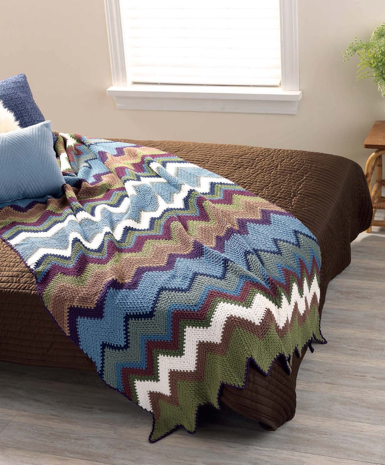 Crocheted chevron bedspread free pattern craftfoxes crochet crocheted chevron bedspread free pattern craftfoxes bankloansurffo Images