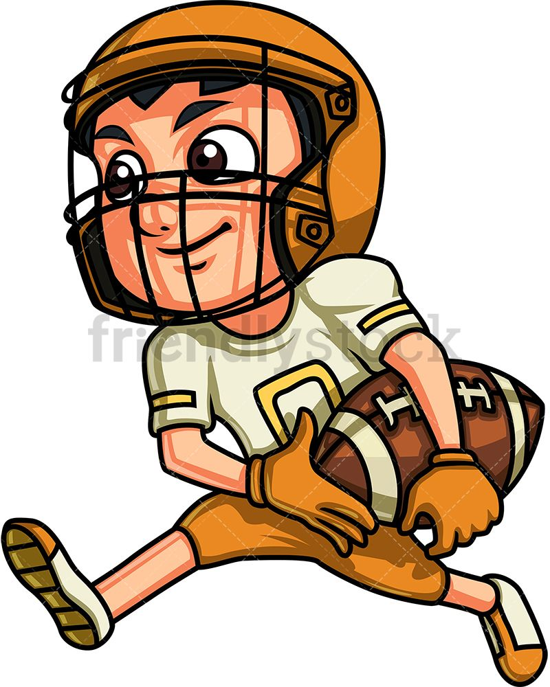 boy playing american football cartoon clipart vector kids clipart Cartoon Bong boy playing american football royalty free stock vector illustration of a little boy with dark hair in uniform playing football and running while on