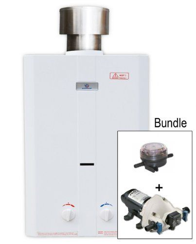 L10 Tankless Water Heater And 12 Volt Pump And Strainer By Eccotemp And Flojet 279 00 The Eccotemp L10 Tank Tankless Water Heater Potting Sheds Water Heater