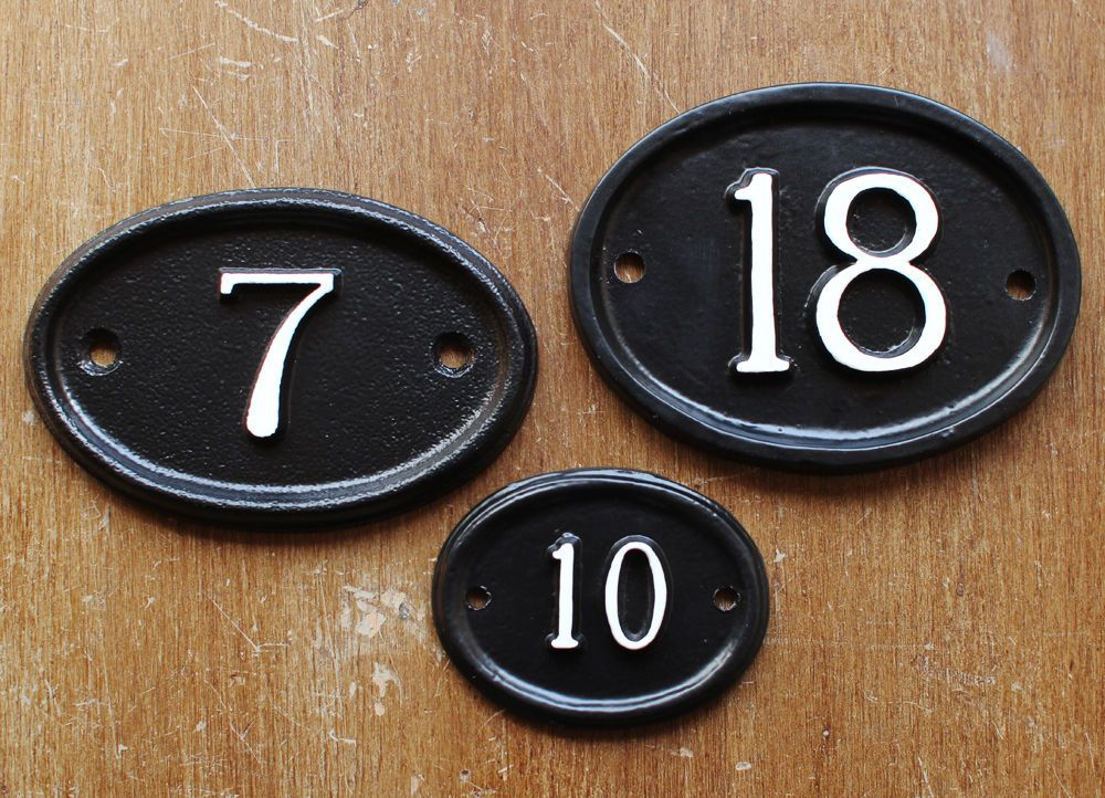 Personalised Cast Metal House Number Sign Door Plaque Customised