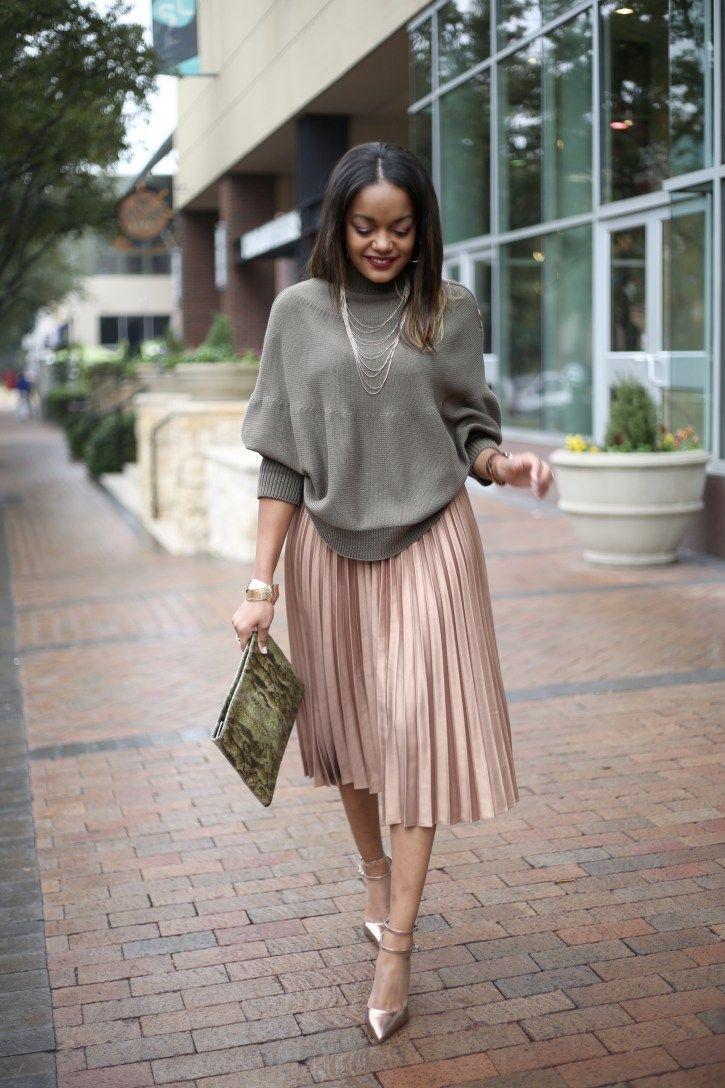 68448a59435 pleated skirt, asos gold pleated midi skirt, asos cape sweater, how to wear  a pleated midi skirt, dallas blogger, black fashion blogger