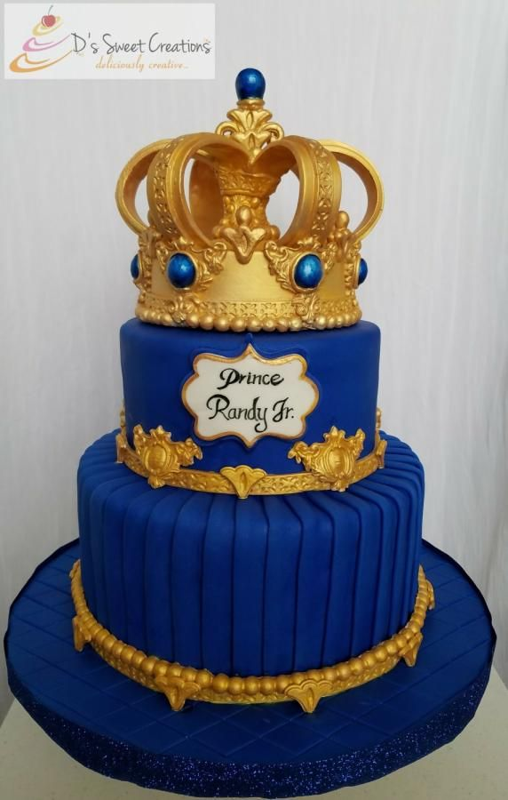 Royal Theme Baby Shower Cake Cake By Deepa Baby Shower