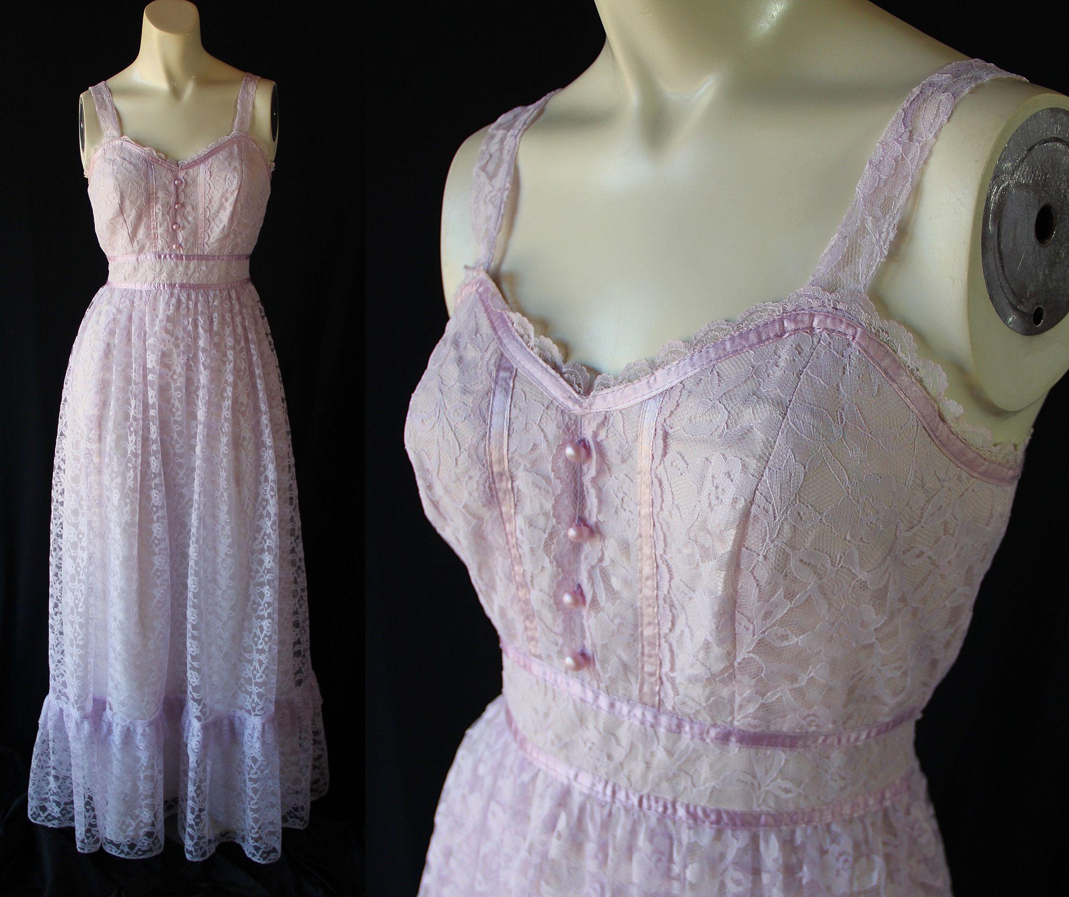 70s 80s Prom Dress Lilac Lace Vintage Wedding Boho Etsy Lilac Prom Dresses 80s Prom Dress Prom Dresses [ 1828 x 2178 Pixel ]