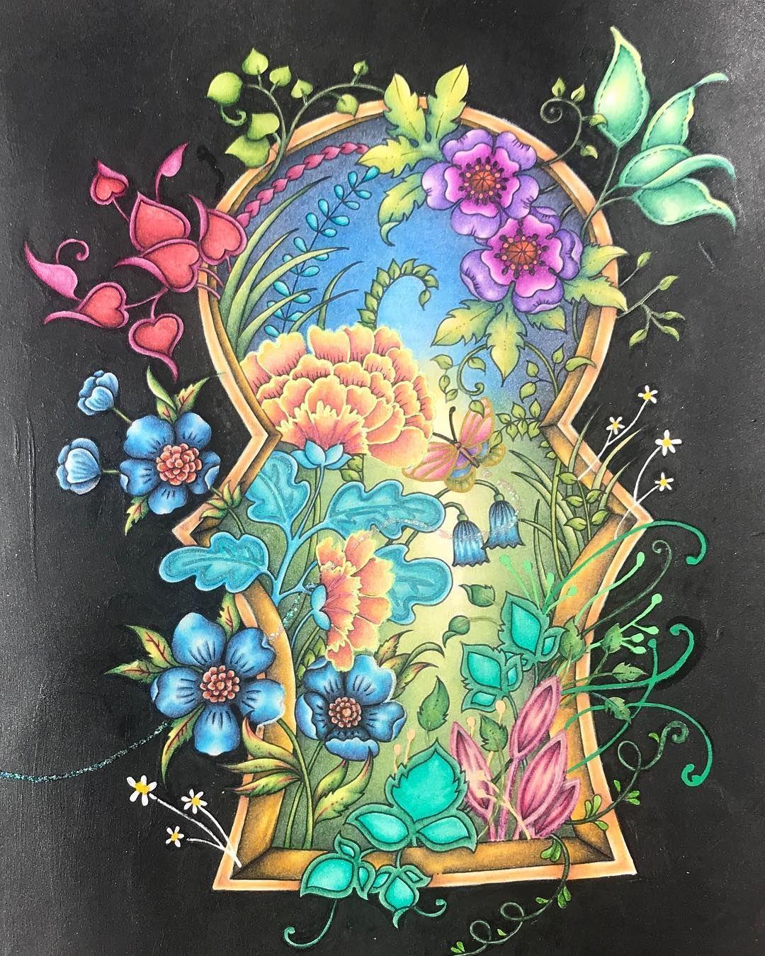 Through The Keyhole And Into Enchantia We Go Ivyandtheinkybutterfly Inkyivy Joha Johanna Basford Coloring Book Basford Coloring Johanna Basford Coloring