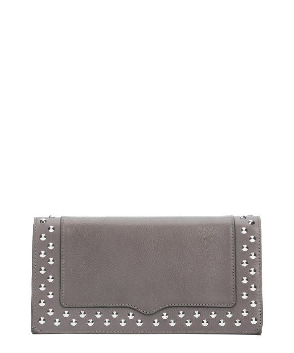 Rebecca Minkoff charcoal leather studded 'Amorous'  clutch