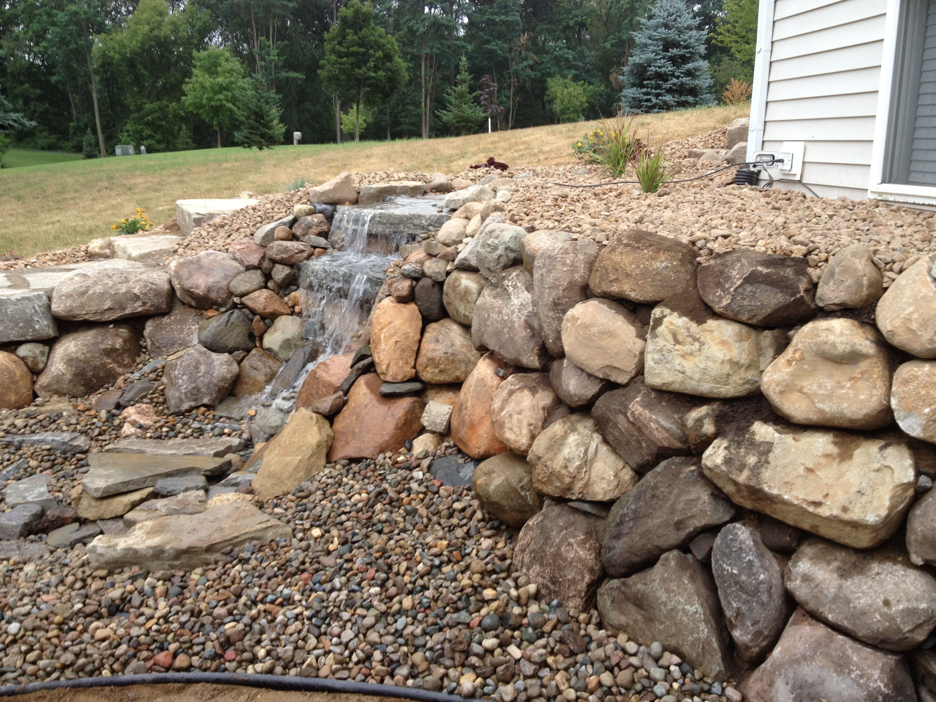 Pin By All Natural Landscapes On Retaining Walls Waterfalls
