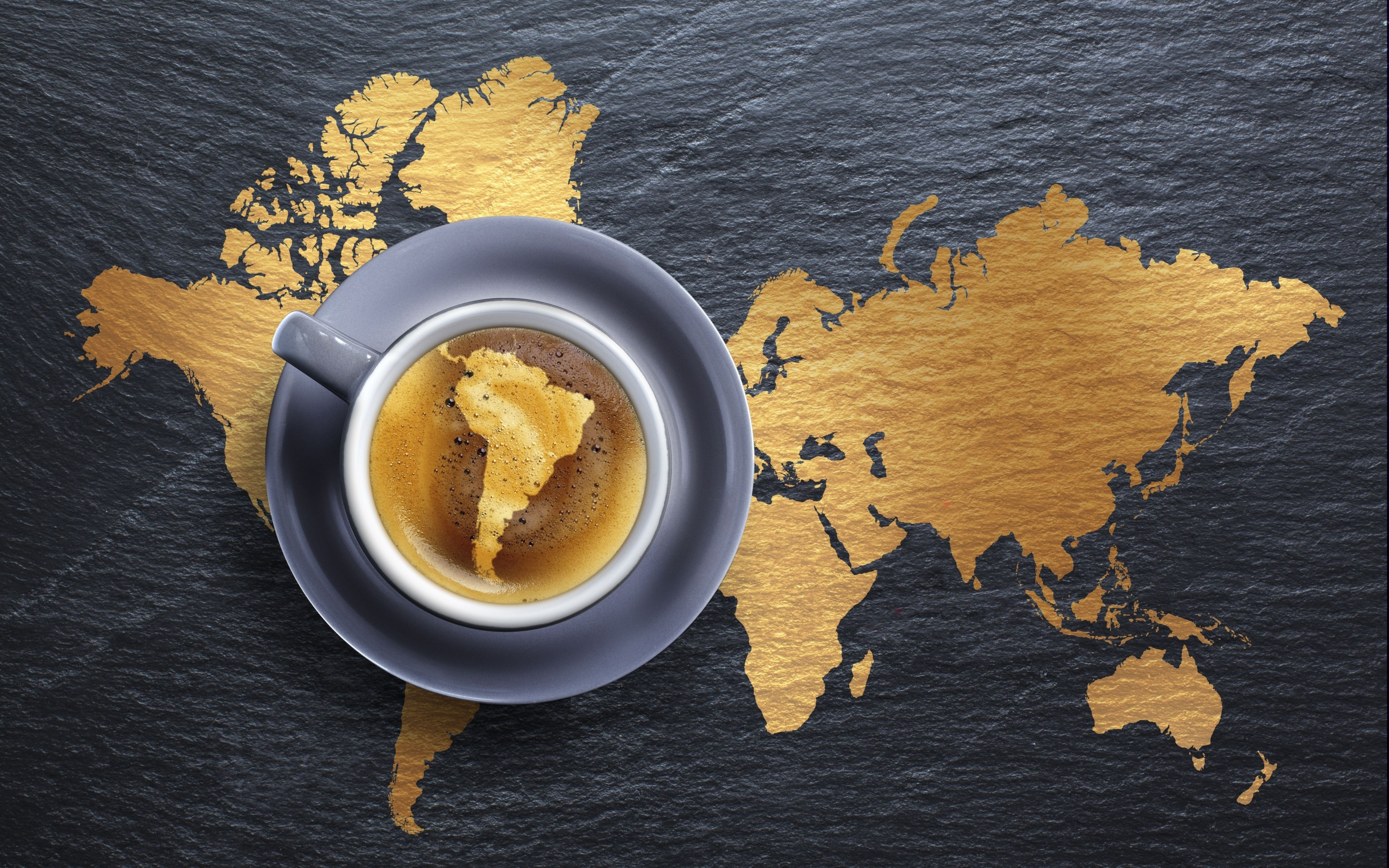 Coffee, Foam, Beverage, Cup, Saucer, Creative, Continents