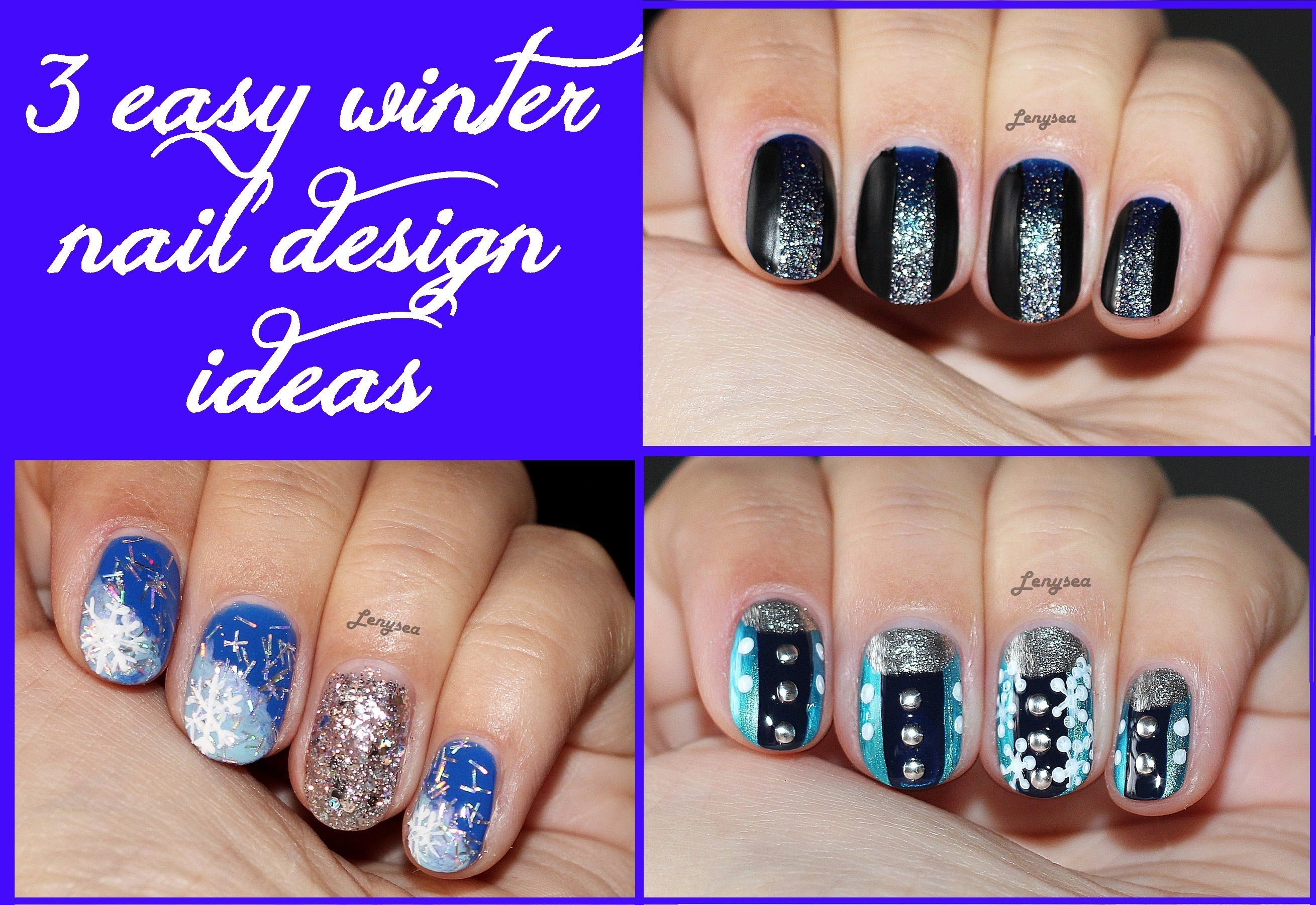 Three Easy Winter Nail Designs for Short Nails 3