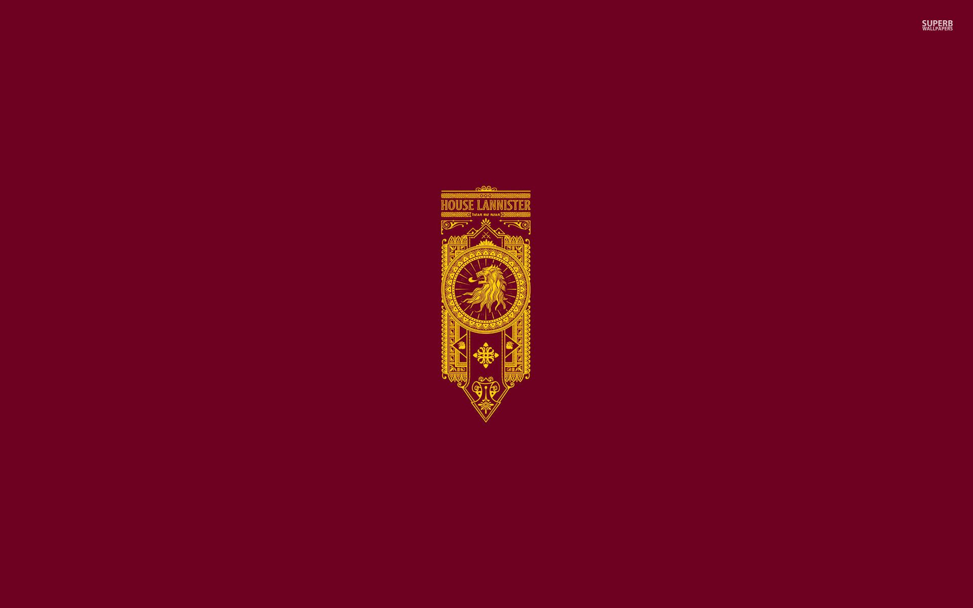 Download House Lannister Game Of Thrones Minimalistic 1920x1200