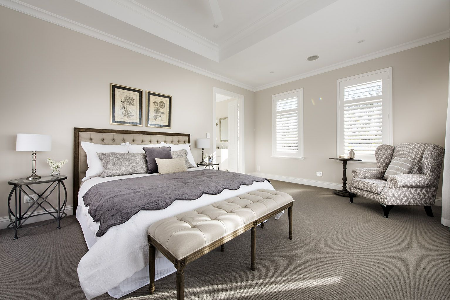 Best Hamptons Style Master Bedroom Oswald Homes Hamptons 400 x 300