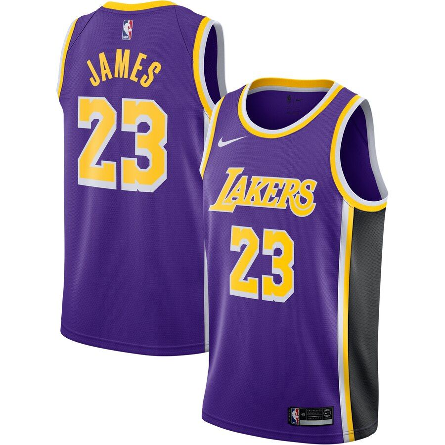 Men's Los Angeles Lakers LeBron James Purple Replica Swingman ...