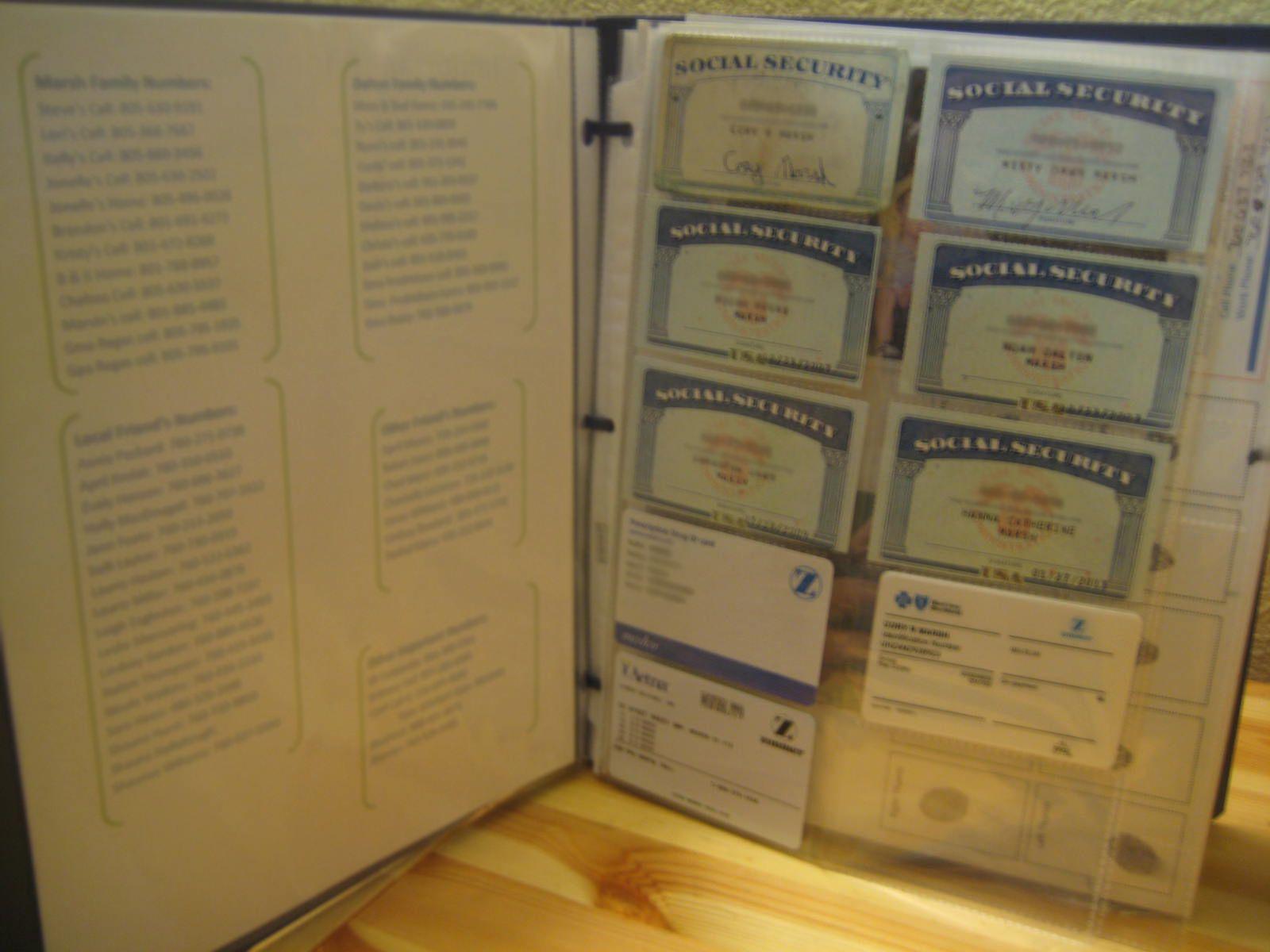 DIY Emergency Documents Folder