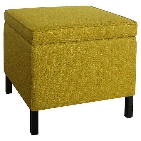 Storage Ottoman Yellow Room Essentials Yellow storage