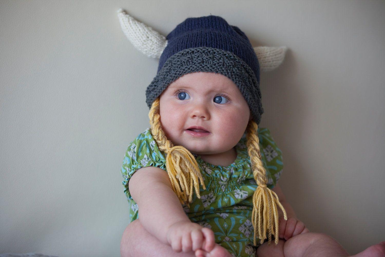 Viking Hat natural fibers Knit Viking Helmet by SweetBauerKnits ...