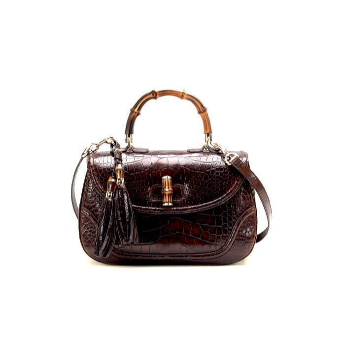 8ec0260d771b deep from the TNYC vault Gucci crocodile bamboo top handle bag brand new  with dustbag and tags measures 10.5 X 7 X 2.5 inches retails for 27000  asking $6700 ...