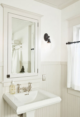 Neutral Colored Beadboard Instead Of White Den And Bath