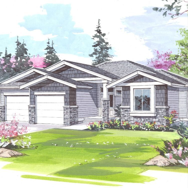 Rancher 1 3 673 Jenish House Design The Plans For This Attractive Three Bedroom 1918 Square Foot Home Include In 2020 House Design Secondary Suite Growing Family