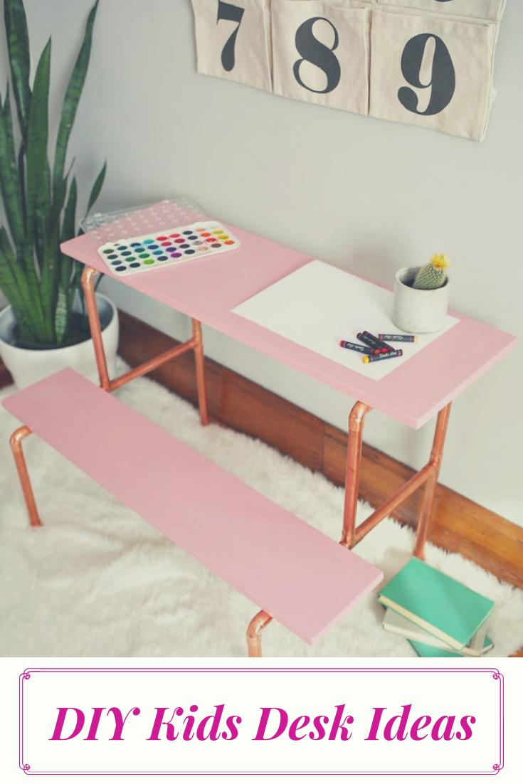 Diy Desk Ideas Diy Of Corner Computer Small And Office Desk Diy Kids Desk Kids Rooms Diy Diy Childrens Desks