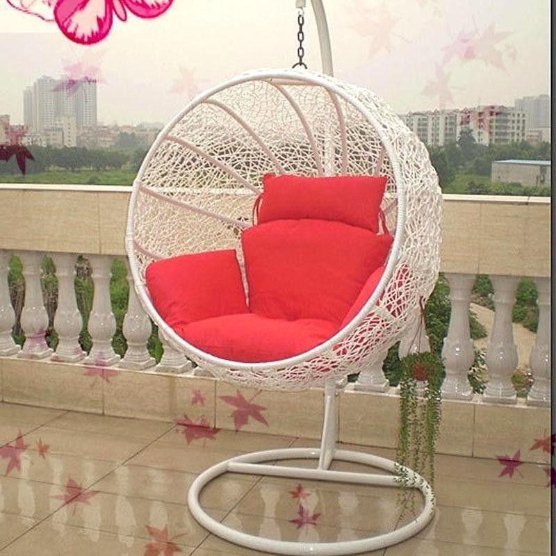 Round Swing Hanging Chair Outdoor Indoor Bird Nest Hammock Balcony Cradle  White