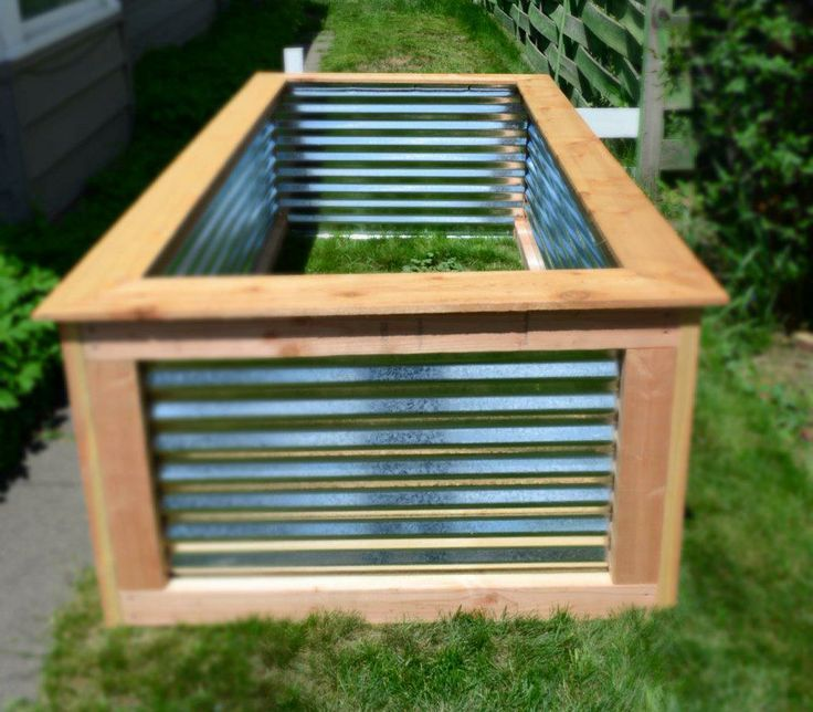 17 Best images about Corrugated metal garden beds on Pinterest