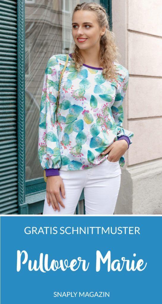 Kostenloses Schnittmuster: Damen-Pullover Marie | Snaply-Magazin